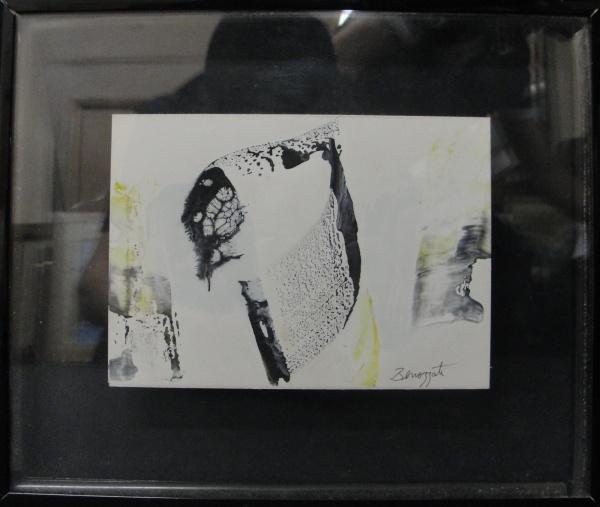 AM071, BENOZZATI, guache sobre cartão, abstrato, medindo 15 x 11 cm.