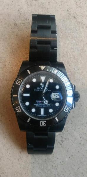 8c4bce067c6 Relógio Rolex Submariner masculino modelo black ( med. 40 mm) caixa e  pulseira .