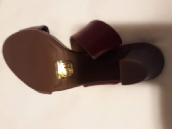 949abd910 AREZZO - Sandália sem uso, em couro multicolorido, salt