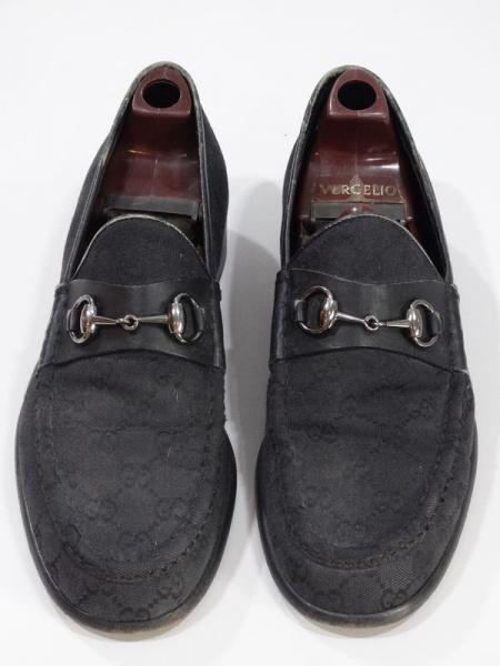81437f4ab GUCCI. Sapato masculino preto de tecido couro. 9D.