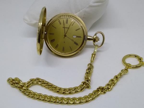 eba5ed80743 Relógio Bucherer de Bolso Aço Quartzo