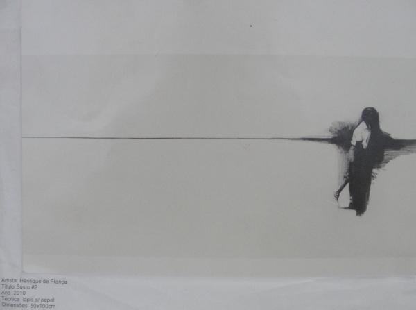 """AM000, HENRIQUE DE FRANÇA, reprodução serigráfica, """"Susto #2"""", medindo 25 x 17 cm. Sem moldu"""