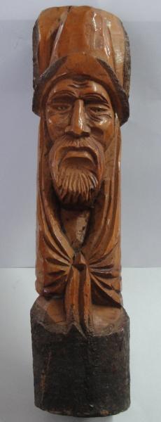 AM000, ARTE POPULAR, escultura em madeira, representando figura, medindo 31 cm de altura.