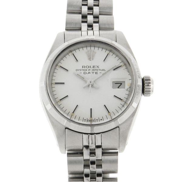 b5aaf09e12c Relógio Rolex Oyster Perpetual Date Lady - Caixa e pulseira em aço -  Pulseira modelo Jubileu Blindada - Tamanho da caixa  26mm - Funções  Horas