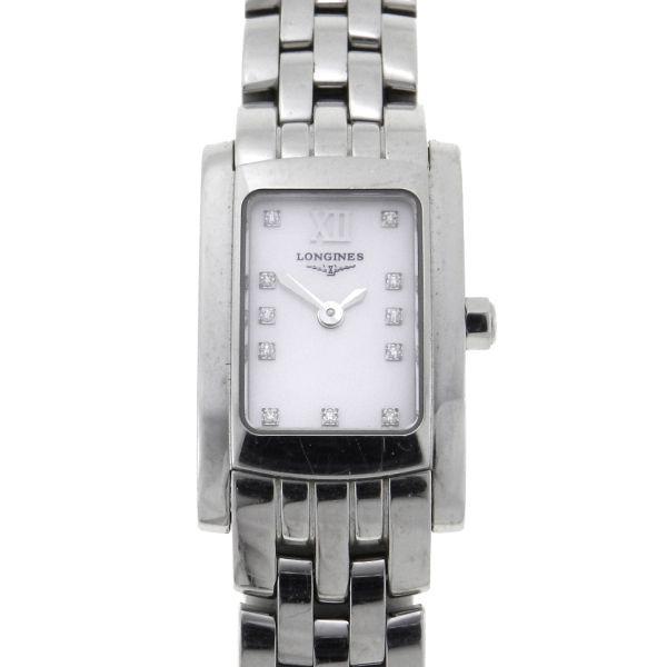 ad6cb7114e3 Relógio Longines Dolce Vitta - Caixa e pulseira em aço - Mostrador em  Madre-Perola com Brilhantes - Tamanho da Caixa 16mm x 25mm (Sem contar a  coroa) ...