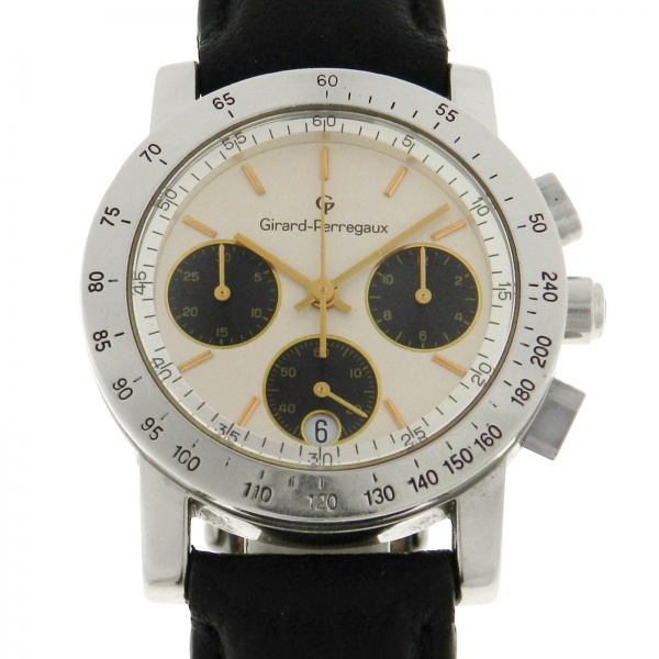 d9a10b34dd0 Relógio Girard Perregaux Chronograph 7000 - Caixa em aço e pulseira em  couro - Tamanho da caixa 35mm - Funções  Horas