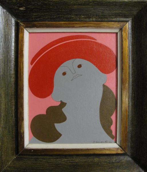 AM002, MILTON DACOSTA, óleo sobre tela colada em placa, representando vênus, medindo 18 x 22 cm.