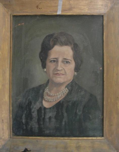 AM002, LUIZ SERGIO BITTENCOURT, óleo sobre tela, representando retrato, medindo 45 x 60 cm. Necessit