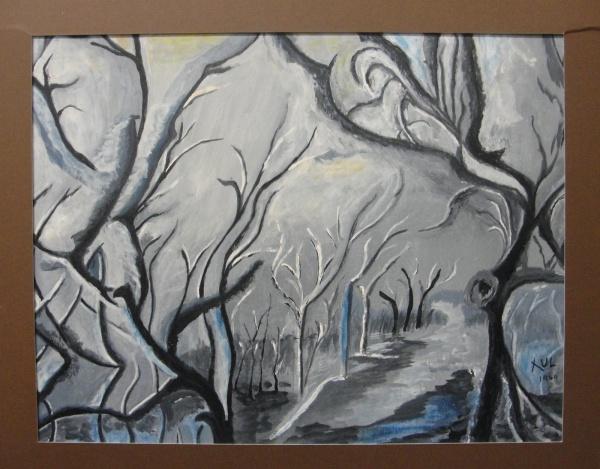 AM092, XUL, guache sobre cartão, representando paisagem, medindo 37 x 29 cm. Sem moldura.