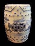 Lindo e perfeito cachepot oriental, pintado a mão, medindo: 47 cm alt. e 31 cm diâmetro.