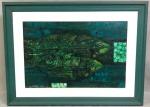 H.KABE - óleo s/ tela, medindo: 60 cm x 80 cm e 39 cm x 58 cm