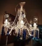 Espetacular lustre em cristal, em ótimo estado medindo :60x60 (faltando a tampa de baixo)