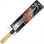 Faca 8 polegadas Japonesa (32 cm) Aço Inox Sashimi /Sushi Salmão Oriental-Lamina em Aço Inox especial ,Super Afiada ,Cabo em Bambu,Uso Profissional ou Doméstico,Indispensável Para Uso Em:Restaurantes e Sushibar e em sua casa. A preferida do sushiman. Ideal Para Cortes e Filetes de peixes, Sushis e Sashimis.Os Japoneses consideram o ato de cortar alimentos uma arte, por isso tem o cuidado de preparar seus pratos culinários com facas de altíssima qualidade. Esse zelo é justificado quando constata o valor e o respeito que os sabores da cozinha japonesa conquistam pelo mundo. NOVA NA EMBALAGEM LACRADA.
