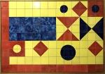 ROBERTO BURLE MARX- pintura s/ cerâmica GEA, medindo 136 x 96 cm.