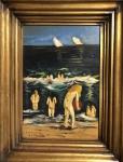 Joaquín SOROLLA Y BASTIDA (Attrib.) (1863-1923) - óleo s/ madeira, datado 1901, medindo: 50 cm x 34 cm e 69 cm x 53 cm (todas as obras estrangeiras são consideradas atribuídas)