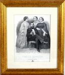 Litografia  Família Imperial por Filippone e Tornaghi, 33 x 25 cm. Medida com moldura 52,5 x 45,5 cm.