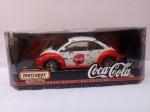 Set Matchbox Collectibles, FUSCA New Beetle Coca Cola, 1999, cx. aprox. 33,5 x 17 x 13cm, segue em blister original (que apresenta desgastes)