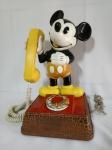 Telefone MICkEY MOUSE, À Disco, aprox. 38 x 25 x 22cm, Funcionando, apresenta desgastes do tempo, descoloridos