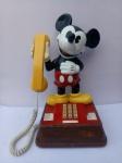 Telefone MICKEY MOUSE, Licenciado, aprox. 38 x 25 x 22cm, ligação por teclado, funcionando, apresenta desgastes