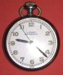 Relógio de bolso, marca Lande Antimagnético, automático, Suisso, década de 1950, caixa de aço revisado só usar