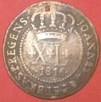 Moeda XL 1816, muito valorizada, pequeno furo