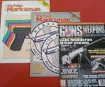 3 Revistas de Armas (Made in USA) pistolas, revolveres, etc...Testes de 9mm totalmente ilustradas!! Várias especificações