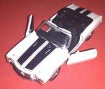 Miniatura, Chevelle 55 454, ícone de sua época, miniatura automóvel USA, Branco com faixas pretas!!!