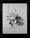 """Claudia Maria Freitas Bakker Doctors (1964, Rio de Janeiro/RJ),  """"A Via Láctea - Da série Foto textos Bairro Chinês"""" , Técnica mista - composição - Impressão s/ papel de algodão com intervenção em tinta acrílica na cor cinza (1996-2013),  Tiragem de 5 + PA - Intervenção única(através de gestual com tinta acrílica, sendo cada um em uma cor,  que os torna únicos). Med 101 x 75 cm (a obra); 102 x 79 x 9 cm (suporte de acrílico). Dados Biográficos: Artista visual e fotógrafa vive e trabalha na cidade do Rio de Janeiro no Brasil. Uma de suas principais influências foi o convívio com a artista Lygia Pape, grande incentivadora do seu trabalho. No início dos anos 90 frequentou a Escola de Artes Visuais do Parque Lage e em 2001 terminou o mestrado em Comunicação e Tecnologia da Imagem pela Escola de Comunicação da Universidade Federal do Rio de Janeiro - ECO/ UFRJ. Sua pesquisa (apoiada pelo CNPq) """"Land Art e Instalações como estratégias de proteção do espaço ante a virtualidade das imagens no século XX"""", foi resultado das sensíveis experiências realizadas na natureza ao longo dos anos 1990. Frequentou grupos de relevância para a história da arte no Brasil, como o Visorama. Foi ainda uma das pesquisadoras, que através da sua dissertação de mestrado, ajudou a construir o conceito do """"Espaço de Instalações permanentes"""" do Museu do Açude (primeiro lugar do Brasil, a reunir em meio a Floresta da Tijuca, instalações permanentes) juntamente com seu marido, o crítico de arte e curador, Marcio Doctors. Referências:MARTINS ESEIBRAUM, Betty, Canvas Magazine & Air France, Rio Guide Março/Abril, 2016;  TACCA, Fernando de, Colecionadores privados de fotografia no Brasil São Paulo: Intermeios, 2015, (Claudia Bakker em Coleção Joaquim Paiva);  ALZUGARAY, Paula, Revista SelecT 21, No entanto, ela se move, Port/Eng,  Lançamento da edição bilíng"""