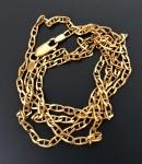 Ouro 18k - Belíssimo cordão modelo Gucci, de ouro 18k, medindo aberto 60cm.