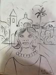 E. di Cavalcanti - Nanquim sobre cartão. Assinado. Obra med. 42x30cm. Sem moldura.  Coleção Particular - Rio de Janeiro.