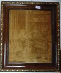 Belo quadro Gobelin francês , altura 45 cm, comprimento 37 cm. (Gobelins são quadros tecidos por uma técnica manual, tendo sua origem no século XVII. Os quadros possuem esse nome em homenagem a Jean e Pierre Gobelin). Origem da informação : Wikipédia.