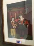 """DINÉA - serigrafia 32x23 cm- assinado canto inferior direito, datado 1983, """"Festa na Vila"""", tiragem 23/30"""