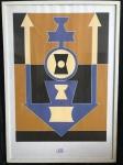 RUBEM VALENTIM - serigrafia - 100x70 cm - assinada canto inferior direito datada 89