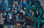 E. DI CAVALCANTI. Carnaval - o.s.t. - 27 x 41 cm - assinado e datado 1957 no cid.