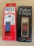 Antigas fichas para jogo de poker. Dois conjuntos completos.