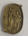 Cinzeiro erótico, em bronze, bom estado. USA.
