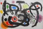 """Litografia original do artista Fernand Léger, retirada da revista Derriere le Miroir , editada  na França (não assinada pelo artista), folha dupla, medindo: 38 cm x 56 cm. Esta litografia pertenceu a Hansen Bahia, que fez anotações no verso. 'Derriere le Miroir' acompanhou cada exposição na Galerie Maeght em Paris, França. A primeira edição apareceu em 1946, The last # 253 da coleção em 1982. DLM nasce da paixão de Aime e Marguerite Maeght. As primeiras edições foram planejadas por Aime Maeght para serem difundidas entre um grande público, com litografias originais. 10.000 cópias foram impressas e distribuídas através de quiosques. Isto falhou completamente e as restantes cópias foram vendidas em peso para financiar a impressão da quarta edição, que foi impressa em apenas 1500 cópias e foi o catálogo da exposição George Braque na Galerie. Jacques Kober e René Char escreveram os textos. Este conceito foi continuado em edições posteriores, combinando grandes escritores com grandes artistas. Em 1947, Adrien Maeght, juntou-se à empresa de seus pais e auxiliou seu pai no layout e na execução. Os artistas criaram litografias originais para ilustrar o DLM. O Mourlot fez a impressão litográfica e o texto foi impresso pela Union nos números 4-115. De 116 a 148, DLM foi filmado nos estúdios de Aime Maeght. Desde 1960, uma edição """"deluxe"""" foi publicada, em papel Arches, limitada a 150 cópias. Em 1964, Adrien Maeght criou a empresa de impressão ARTE, que projetou e imprimiu as edições 149-232. Todos incluíam litografias. Após a morte de Marguerite Maeght em 1977, os últimos números foram feitos na empresa de impressão Lion, com menos litografias. Alguns problemas foram reimpressos. Na edição 250, Aime Maeght queria prestar homenagem a todos aqueles que tinham seu nome associado ao DLM. Aime morreu em 1981 e o número 250 se tornou uma homenagem a Marguerite e Aime Maeght por trinta e cinco anos de amizade com os artistas e poetas."""