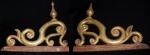 Duas antigas talhas em madeira com folha de ouro no estilo Barroco, Minas Gerais. Uma colada. Medidas: 51 X 57 cm.
