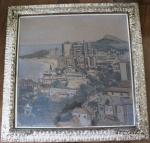 """""""Copacabana"""", guache, 80,5 X 50,5 cm, não apresenta assinatura."""
