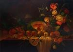 """LILIO OLIVEIRA - """"Natureza Morta"""", o.s.t. 70 x 100 cm,  assinado, datado e localizado Rio 1992."""