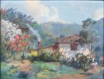 """FERNANDO MARTINS (Portugal , Rio Tinto, 1911 Rio de Janeiro, Teresópolis, 1965) """"Onde Mora o Amor"""" , o.s.t 33 X 41 cm, assinado. localizado e datado Teresópolis, 1948."""