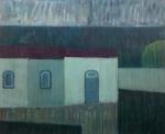 Mario Rubinski - Óleo sobre placa de duratex - Medida interna: 50x62cm externa 66x76cm - Assinatura no canto inferior direito