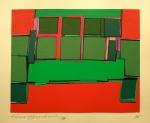 Silvio Oppenheim - 1988 - P.I. - Litogravura - Acid - Medidas 40 x 50 cm - assinado