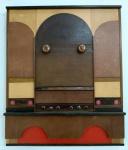 Antonio Arney - Técnica mista sobre madeira - Medidas 60 x 50 cm - Assinado no verso