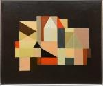 """MARIA LEONTINA - """"Abstrato"""", O.S.T., assinado no verso. med.: 60 x 70 cm."""