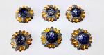 MILITARISMO - Lote contendo 6 botões em metal esmaltado EM EXCELENTE ESTADO. Medem 2,8 cm de diâmetro.