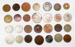 MOEDAS - NUMISMÁTICA - Lote contendo 28 moedas de materiais e épocas diversos.