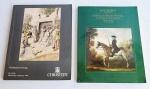 Lote com 2(dois) catálogos de leilão da renomada casa de leilões Christie´s, em papel de excelennte qualidade com fotos e descrições de importantes leilões realizados.