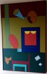 """Dionísio Del Santo - 1978 -  """"Busto de mulher e Gato"""", Acrílica sobre tela, assinado e datado no C.I.D. Assinado, datado e intitulado no verso. Obra med. 92x60cm. Acervo Particular - Rio de Janeiro"""