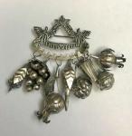 PRATA DE LEI- Belíssima penca em prata de lei. Med. 10cm/ 64g